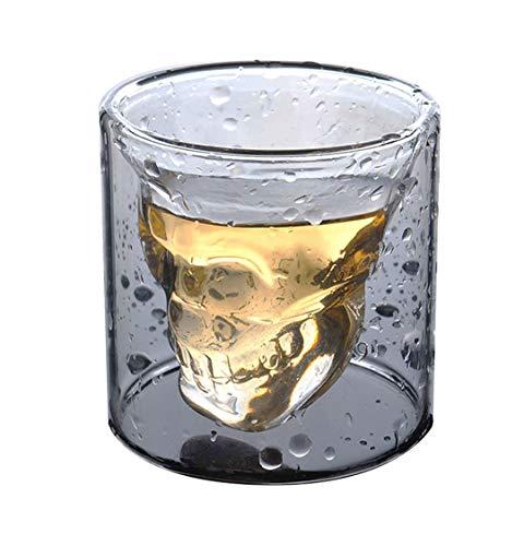 HwaGui Coole Kristall Schädel Schnaps Gläser Trinken Wein Tasse für Whiskey 200 ml/7 oz