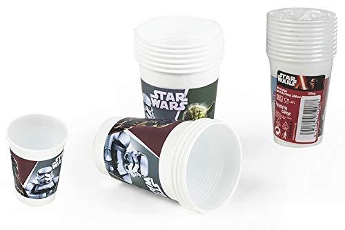 Colorbaby, 71908, pack 10 verres de guerres des étoiles en plastique, pour les fêtes et les anniversaires. 200ml