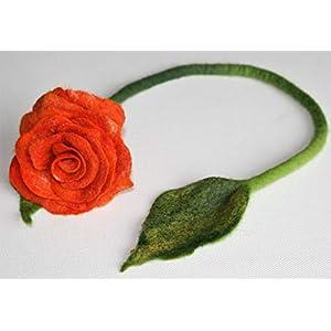 Schlüssel Anhänger - gefilzte Rosenblüte Rose