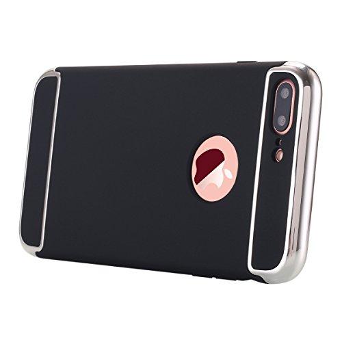 iPhone 7Plus Tablet, iPhone 7Plus Case, lontect Ultra Slim Thin rigida 3in 1Non beleg superficie opaca con galvanisieren cottura per Apple iPhone 7Plus nero