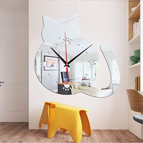 YSSYSS Cute Animal Chubby Cat Cat Paw Print Acrylic Mirror Living Room Bedroom Decoration DIY 28 * 28 cm (Grenze Print Paw)