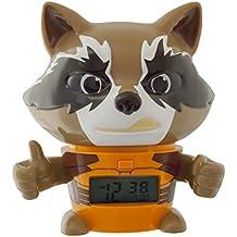 Despertador infantil BulbBotz con luz nocturna de Rocket Raccoon de Guardianes de la galaxia Vol. 2 de Marvel con sonido característico   marrón/naranja  plástico   14 cm de altura   Pantalla LCD   chico chica   oficial