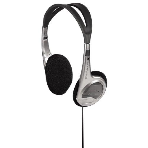 Hama Stereo-Leicht-Kopfhörer HK-229 (On-Ear mit Super Bass Power, 120 cm Kabellänge) silber