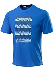 NIKE Run repeat-ch T-shirt pour homme – Bleu – Bleu, X-Large