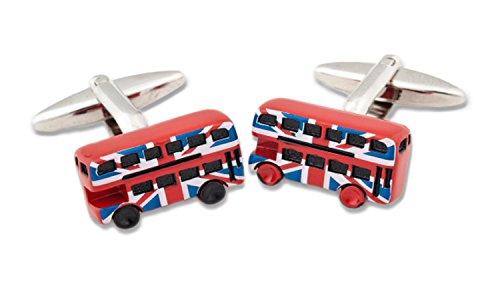 Sologemelos - Boutons De Manchette Bus Londres - Rouge - Hommes - Taille Unique