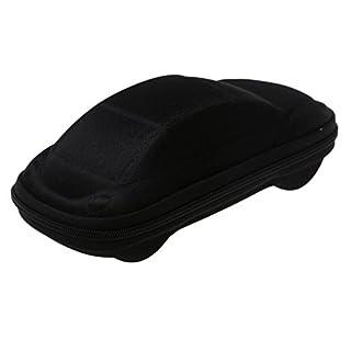 A-szcxtop Car Shaped Zippered Spectacles Plain Glasses Box Case(Black)