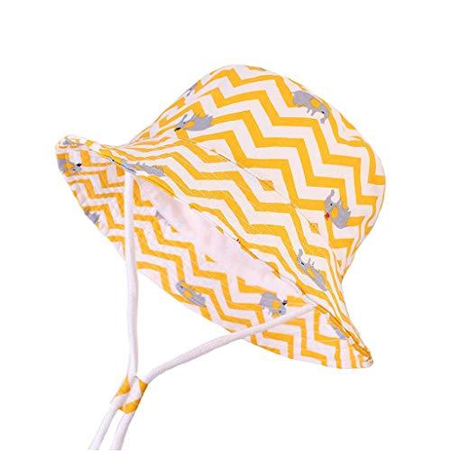 einwand Kappe Kleinkind Baby Sonnenhüte Kinder Mädchen Jungen Streifen Bänder Breathable Hut Bucket Cap ()