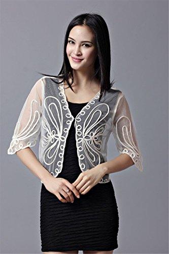 Santwo da donna a maglia floreale MIDI manica Petite bolero Coprispalle cardigan per signora Asia taglia più piccola taglia EUR Style C