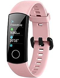 HONOR Band 5 Pulsera de Actividad Huawei Fitness Tracker Inteligente IP68 Smartwatch de Deporte con Notificación y Monitor de Pulsómetro, Sueño, Podómetro Android y iOS Rosa (Versión Global)