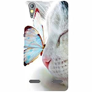Printland Butterfly Back Cover For Lenovo A6000 Plus