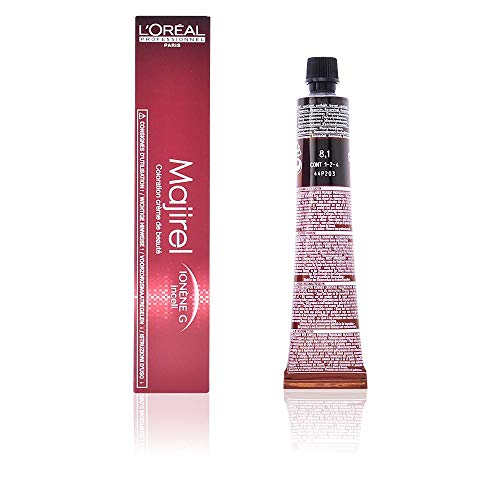 L'Oreal Majirel 8.1, Color Rubio Claro Ceniza - 50 ml