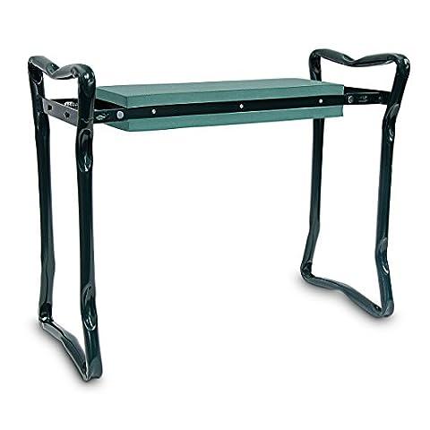 Relaxdays portable genoux et banc de jardin avec coussin en