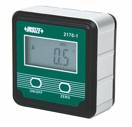 INSIZE 2170-1 Digitaler Wasserwaage und Winkelmesser, 4 x 90 Grad