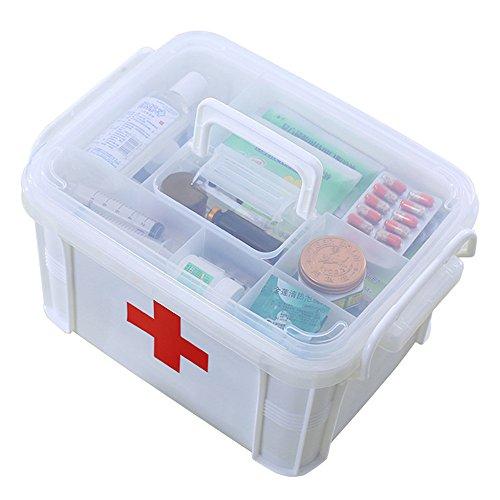 Extra-große Multifunktionskiste für den Haushalt – für Erste-Hilfe-Set, Medikamente, als Organiser weiß