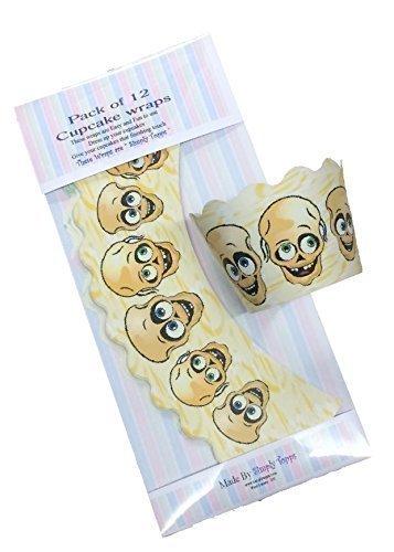 12 x Totenkopf Halloween Törtchen Papier heimgesucht Kuchen Bezüge Dekoration