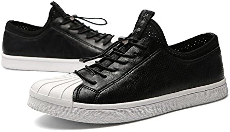 QIDI-Men's shoes Zapatillas para Hombre Negro Negro EU40/UK7