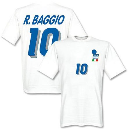 Roberto Baggio Italy 1994 Away T-Shirt (White)