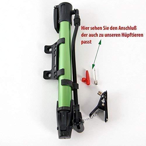 Soytich Fahrrad Luftpumpe ALS Ergänzung zu unseren Hüpftieren, Hüpfbällen (Luftpumpe03V), Farbe allgemeine:Grün