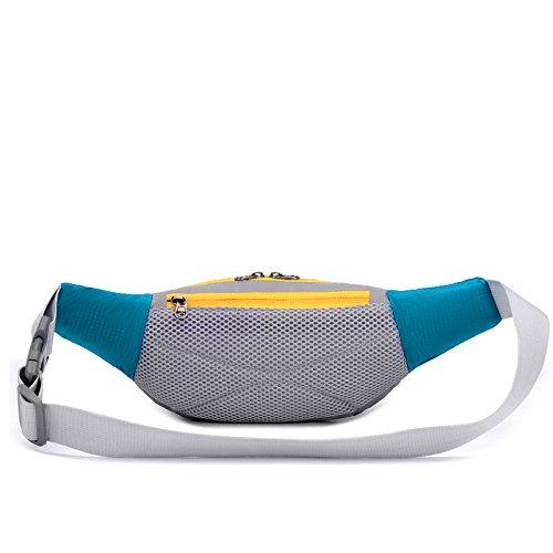 &zhou Kleine Taschen Multifunktions-Freizeit für Verwendung im freien Männer und Frauen kombiniert Geldbörsen Bewegung Schulter Umhängetasche Black