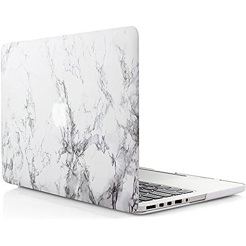 iDOO Funda dura de goma con acabado mate [Para MacBook Pro Retina 13 Pulgadas - sin unidad de CD: A1425 / A1502] - Color mármol