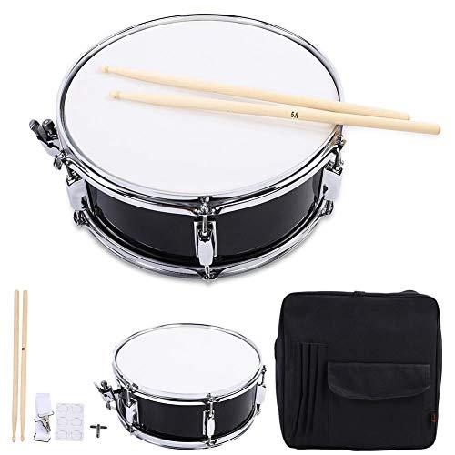 Snare Drum, Tambor de Percusión Kit con Palillo de Tambor Tecla de Batería y Bolsa
