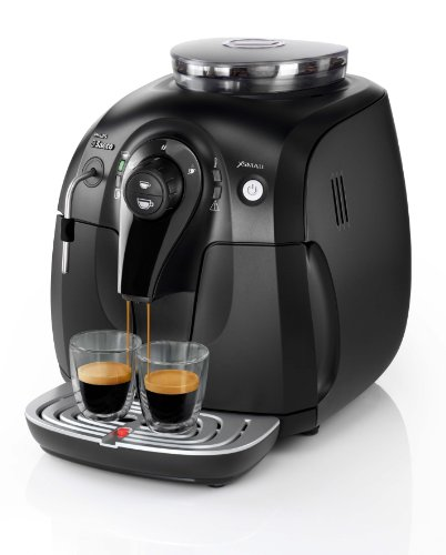Philips Saeco Cafetera Saeco Xsmall espresso automática, 1400 W, 1 Liter, Acero Inoxidable, negro