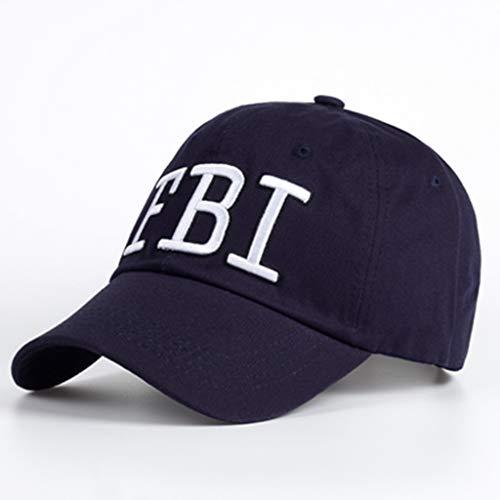 ZHENGBINGF Neue hochwertige männliche Hutmode Männer und Frauen Hut Baseballmütze einstellbare Hut Erwachsenen Trucker Hut Kappe Stickerei Kappe, blau