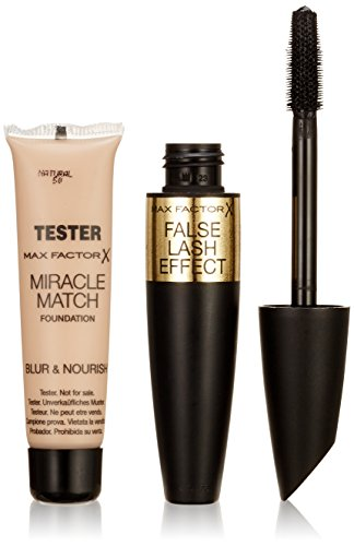 Max Factor False Lash Effect Mascara black plus Gratisprobe Miracle Match Foundation, 1er Pack (1 x 2 Stück)