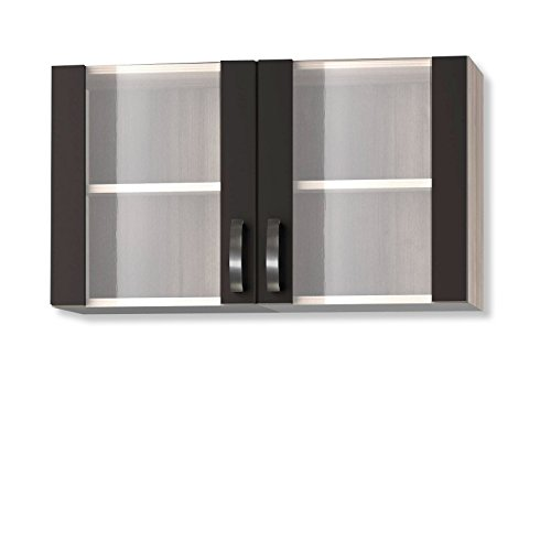 ROLLER Glasoberschrank KULT FARO KUFR OG156-9 - Glas-front-küchenschränke Grau