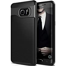 Funda Galaxy S6 Edge Plus, Caseology® [Serie Wavelength] Duradero Antideslizante Gota de Protección [Negro] para Samsung Galaxy S6 Edge Plus (2015) - Negro