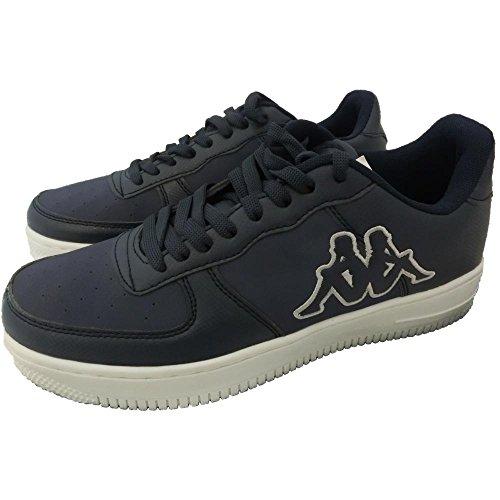 Kappa scarpe sportive unisex 1332 - Sneaker da Ginnastica Pelle-Camoscio, Blu (42)