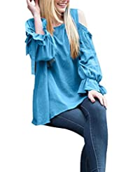 Toamen OtoñO Moda Mujer OtoñO Lace Up Off Camiseta De Manga Larga De Manga Larga Blusa