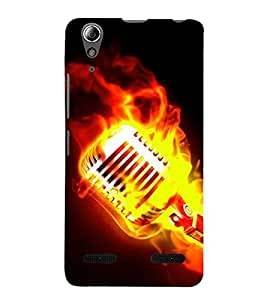 Vizagbeats Burning Mike Back Case Cover for Lenovo A6000