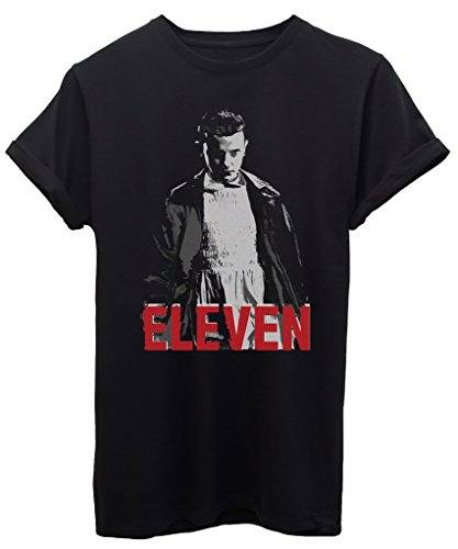 T-Shirt ELEVEN UNDICI 11 STRANGER THINGS - SERIE TV - by iMage Nera