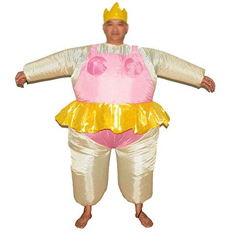 Aufblasbares Kostüm Fatsuit Ballerina Für Herren Fasching Karneval (Kostüm Aufblasbares Ballerina)