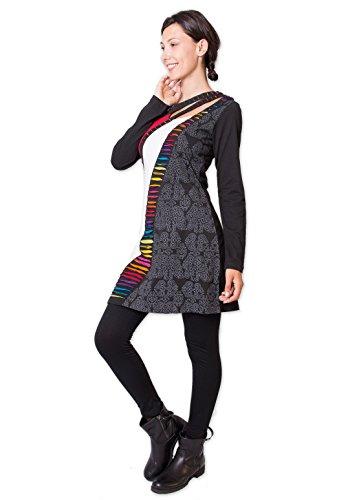 Coton Du Monde - Robe KEMIJOKI Noir Multicolore