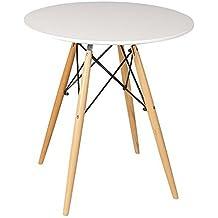 Beat Collection Dining 2 - Mesa para comedor, 72 x 80 x 80 cm, color blanco