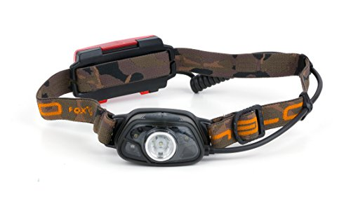 Fox Halo MS250 Headtorch Angellampe - Kopflampe zum Nachtangeln auf Karpfen & Raubfische, Lampe zum Karpfenangeln, Anglerlampe