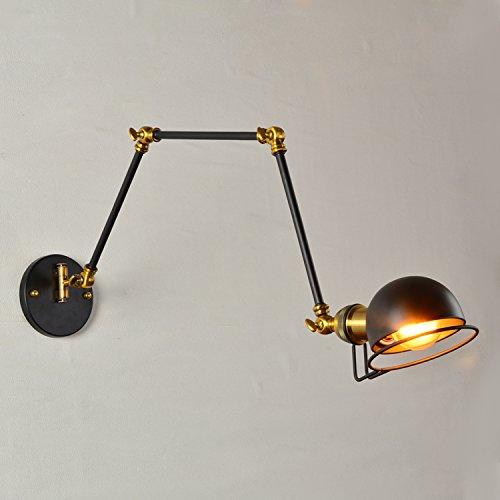 Drei Abschnitte Bügeleisen Antike Lampen Esszimmer Auf Dem Bett Und Liest Einziehbaren Wandleuchten, Eine Pendelbewegung, Mit Led-Lichtquelle (Pendelbewegung)