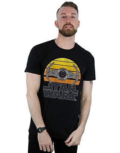 Star Wars Herren Sunset Tie Fighter T-Shirt Schwarz Large -