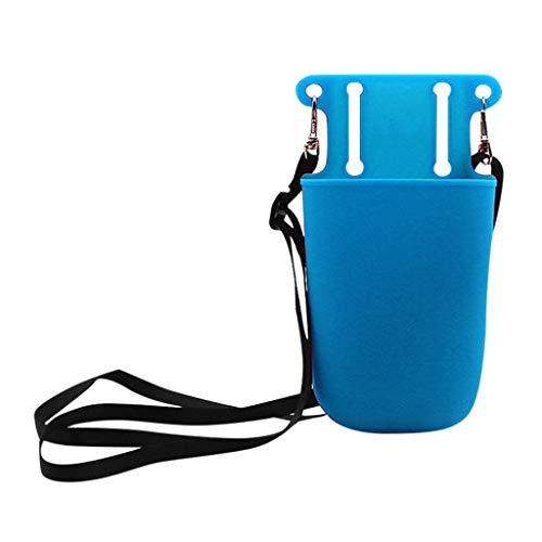 Makalon Silikon-Werkzeugtaschen-Aufbewahrungstasche für Schönheits-Friseur-Gartengeräte, kleine dauerhafte Wartung und Tasche für Werkzeuge, Taschenlampe, Schlüssel. (Blau)