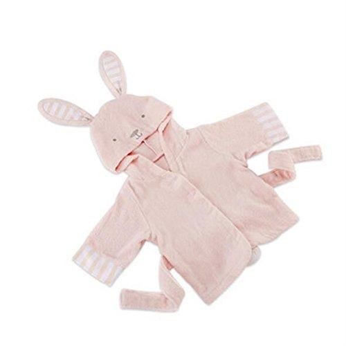 WEILIVE Gemütlich Kinder Kind Junge Mädchen Baumwolle Kaninchen Form Mit Kapuze Cartoon Bademantel Decke Strand Badetuch Handtuch-Kleid (Farbe : Pink, Größe : M)
