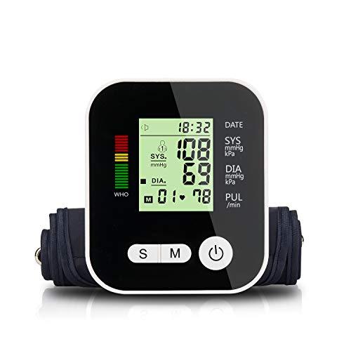 ZUEN Monitor de presión Arterial Brazo Superior USB tonómetro automático Sphygmomanometer Cuidado...