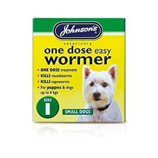 Small upto 6 kg - Johnsons One Dose Easy Wormer Tablet Worming Dogs Dewomer 7