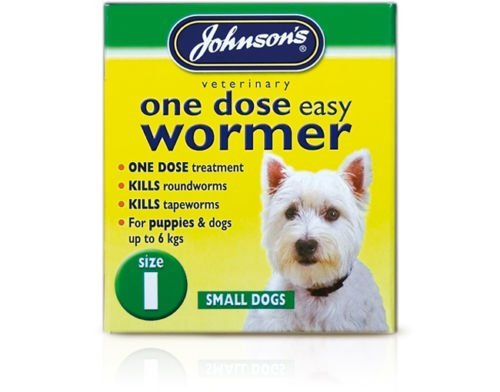 Small upto 6 kg – Johnsons One Dose Easy Wormer Tablet Worming Dogs Dewomer