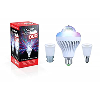 Kam Moonbulb DUO Led Rotating Bulb Lighting Effect Disco Party DJ