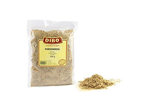 DIBO Pansenmehl, 250g, der kleine Naturkau-Snack oder Leckerli für Zwischendurch, Hundefutter, Qualitätskauartikel ohne Chemie