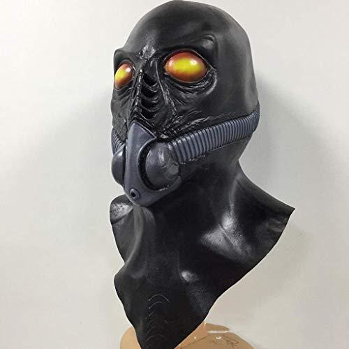 CS-LJ Halloween Masken Halloween Horror Masken Maskerade Maske Sauerstoffmaske for Allerheiligen Allerheiligen (Weihnachten Im Zusammenhang Kostüm)