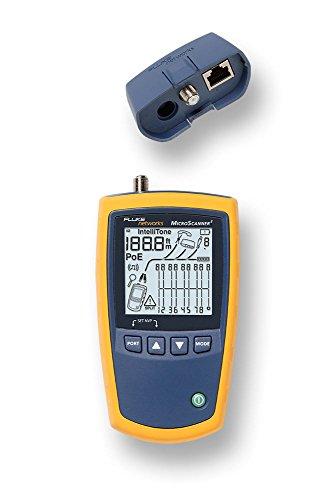 Fluke Netzwerkkabel-Prüfgerät MicroScanner 2 Cable Verifier, 76 x 36 x 163 mm, AA, 0-45°C, 0-90%, -20-60°C, koaxial