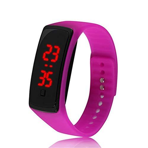 Reloj de Pulsera de Silicona LED Deportivo Digital Resistente al Agua para niños, niñas, Hombres...